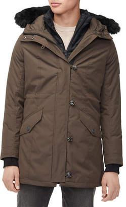 UGG Men's Butte Fur-Trim Hooded Parka Coat