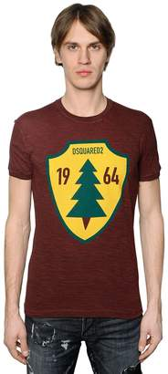 DSQUARED2 Pine Tree Printed Cotton Jersey T-Shirt