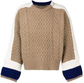 Haider Ackermann colour-block jumper