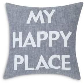 Alexandra Ferguson My Happy Place Decorative Pillow, 16 x 16