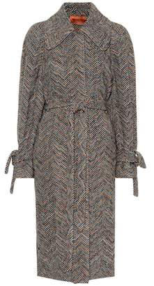 Missoni Wool and cotton knit coat