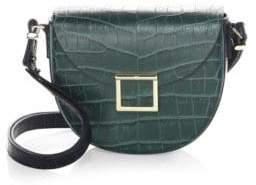Jason Wu Jaime Croc-Embossed Leather Saddle Bag
