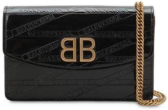 Balenciaga Bb Chain Wallet Patent Leather Bag