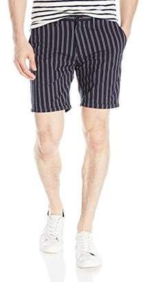 Scotch & Soda Men's Chino Short in Yarn Dyed Quality with Pressed Pleat Detail