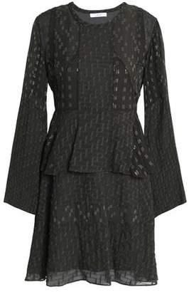 IRO Silk-Blend Fil Coupé Mini Dress