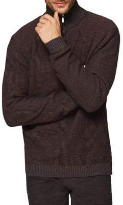 Esprit Zip Mock-Neck Sweater