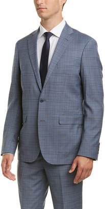 Cole Haan 2Pc Wool-Blend Suit With Flat Front Pant