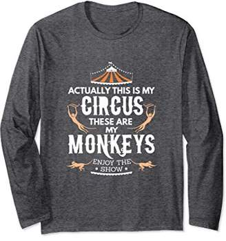 Monkey Circus Long Sleeve shirt Enjoy the Show at the Zoo !