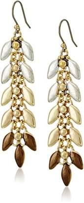 Lucky Brand Leaf Linear Earrings