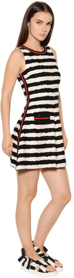 Striped Cotton Tweed Dress