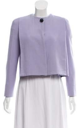 Giorgio Armani Wool-Blend Cropped Jacket