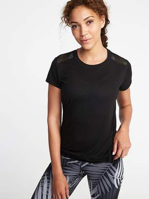 Old Navy Relaxed Mesh-Back Side-Tie Tee for Women