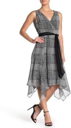 Gabby Skye Tie Waist Asymmetrical Dress