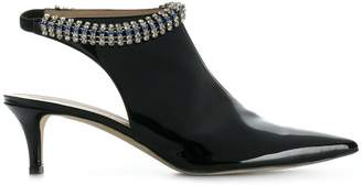 Christopher Kane crystal patent leather boots