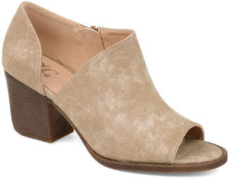 Journee Collection Womens Hartli Booties Stacked Heel Zip