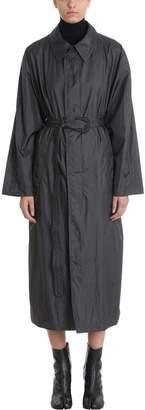 Maison Margiela Grey Long Belted Raincoat