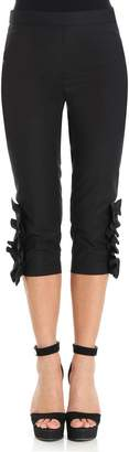 Moschino Cropped Cotton Blend Trousers