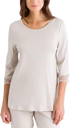 Hanro Valencia 3/4-Sleeve Crop Pajama