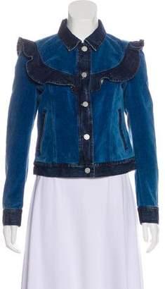 Rebecca Taylor Embellished Denim Jacket