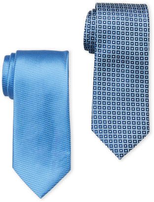U.S. Polo Assn. Two-Pack Solid & Square Printed Ties