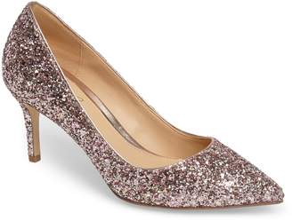 Badgley Mischka Lyla Glitter Pointy Toe Pump