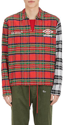 Umbro x Off-White Men's Tartan Cotton Flannel Shirt $945 thestylecure.com