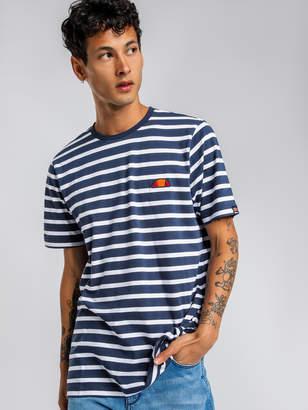 Ellesse Sailo Stripe Short Sleeve T-Shirt in Navy White