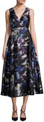 LK Bennett L.K.Bennett Loena Blurry River A-Line Dress