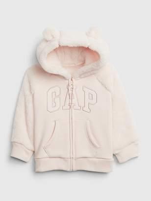 Gap Logo Sherpa Hoodie Sweatshirt