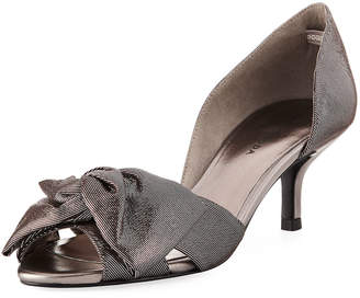 Pelle Moda Alera Low Peep-Toe Pumps, Pewter