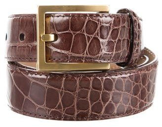 MICHAEL Michael Kors Michael Kors Brown Alligator Belt