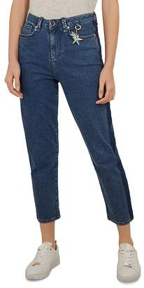 Ted Baker Colour by Numbers Eruca High Waist Straight Jeans in Mid Wash