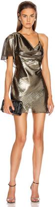 Cushnie Single Sleeved Mini Dress in Gold   FWRD