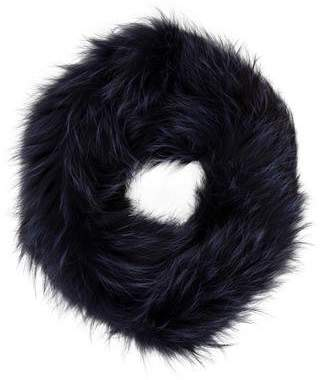 Yves Salomon Fox Fur Knitted Snood