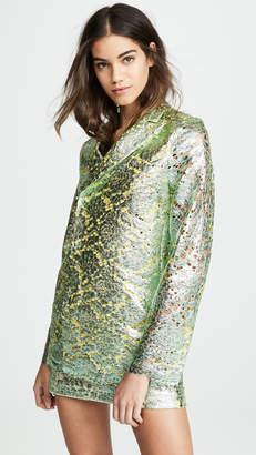 ANAÏS JOURDEN Metallic Lame Lace Blazer