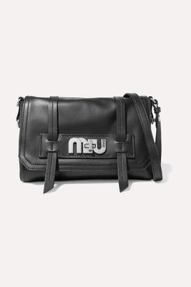 Miu Miu Grace Leather Shoulder Bag - Black