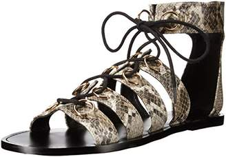 Nine West Women's Tayah Snake Gladiator Sandal