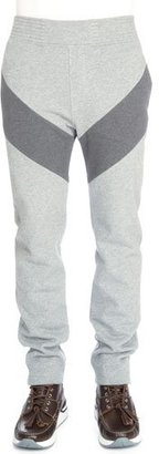 Givenchy Single-Stripe Pull-On Sweatpants, Dark Gray $835 thestylecure.com