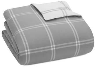 UGG Luxe Reversible Windowpane Flannel Duvet - King