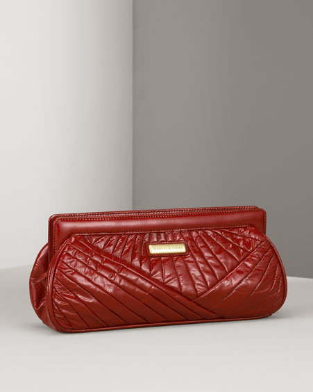 Isabella Fiore Let Go My Deco Patent Clutch