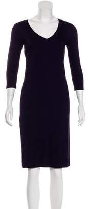 Trina Turk Long Sleeve Knee-Length Dress