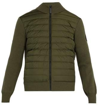 Canada Goose Hybridge Wool Knit And Quilted Down Jacket - Mens - Khaki