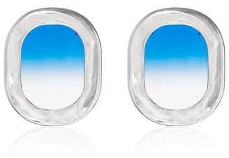 All Blues blue 925 Sterling Silver Airplane Window Earrings