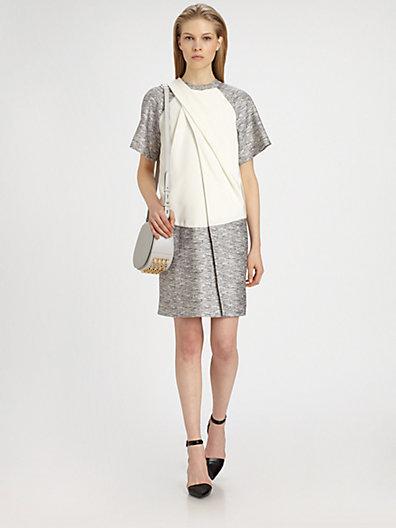 Alexander Wang Draped Raglan T-Shirt Dress