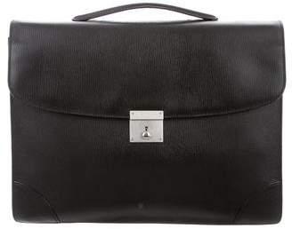 Valextra Textured Leather Briefcase