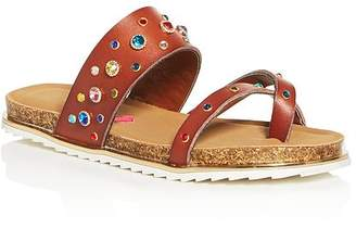 783663caf12e Steve Madden Girls  JSleuth Embellished Slide Sandals - Little Kid