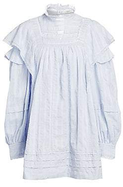 Etoile Isabel Marant Women's Patsy Ruffle Lace Baby Doll Dress