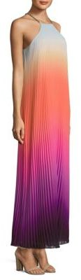 Trina Turk Pleated Ombre Halter Neck Dress $498 thestylecure.com