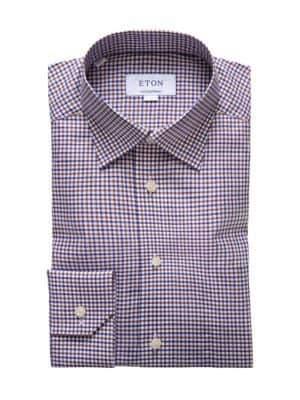 Eton Tatersol Check Dress Shirt