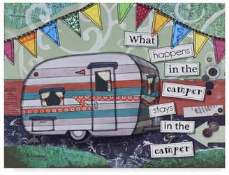 "Camper Trademark Global Let Your Art Soar 'Happy Camper' Canvas Art - 19"" x 14"""